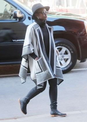 Lupita Nyongo out in NYC
