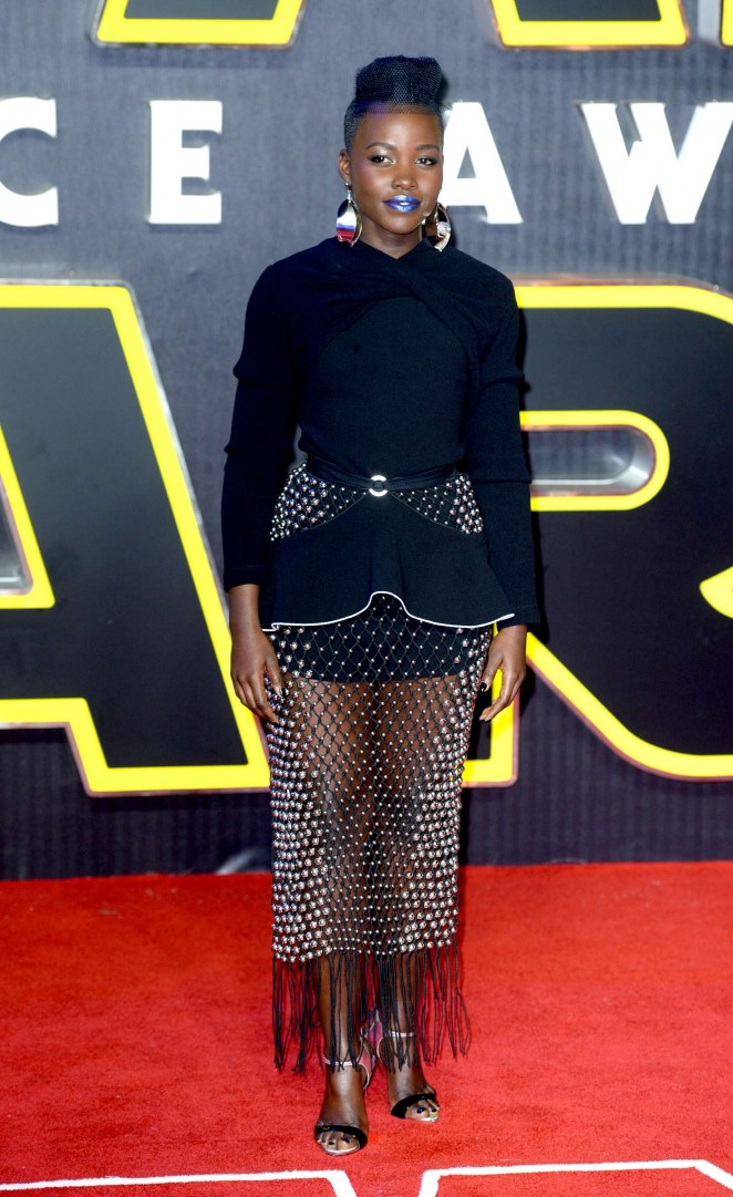 Lupita Nyongo: Star Wars The Force Awakens UK Premiere -02