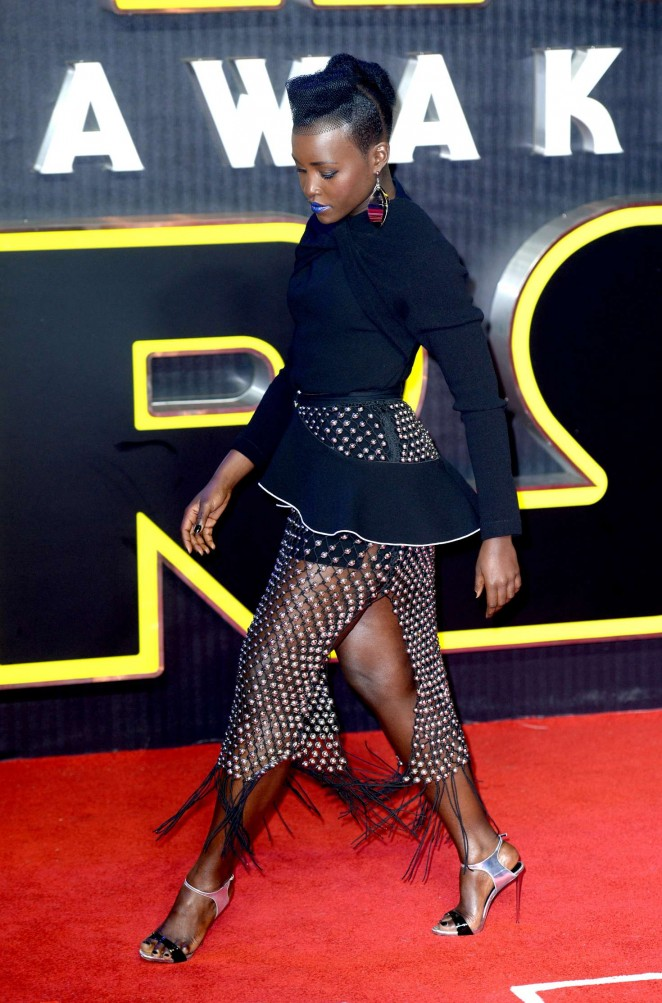 Lupita Nyongo: Star Wars The Force Awakens UK Premiere -11
