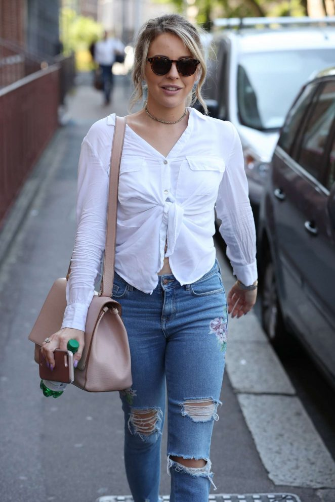 Lydia Bright in Jeans out in London