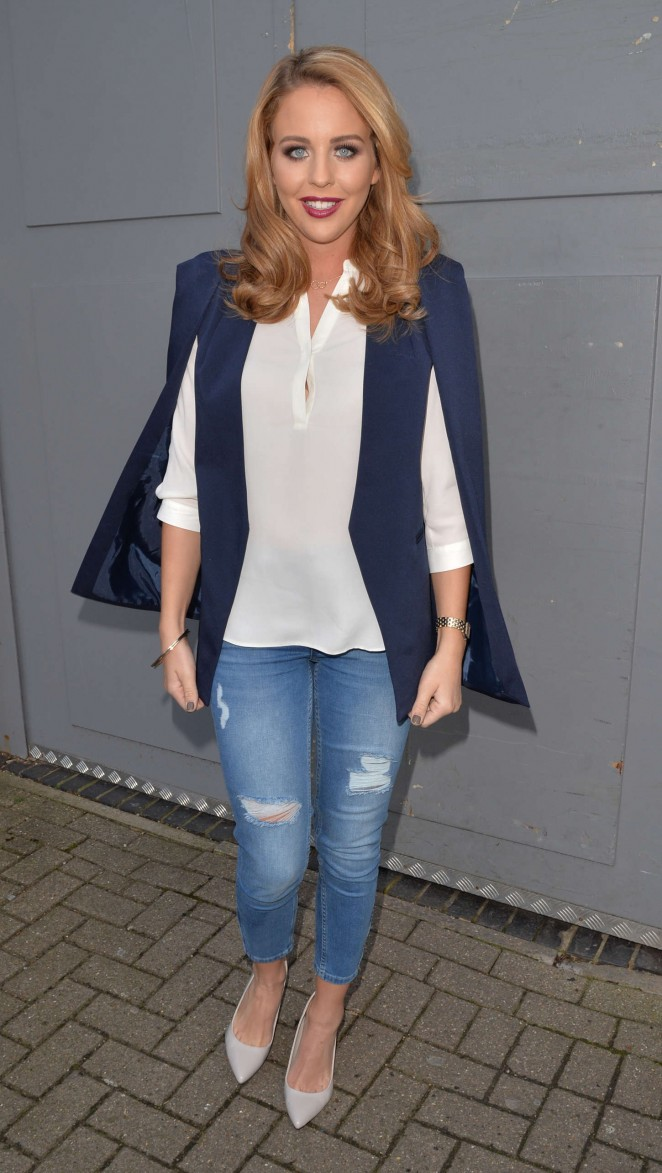 Lydia Bright in Ripped Jeans out in London