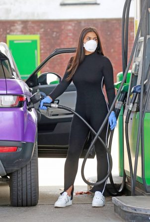 Lydia Clyma at local petrol station in London