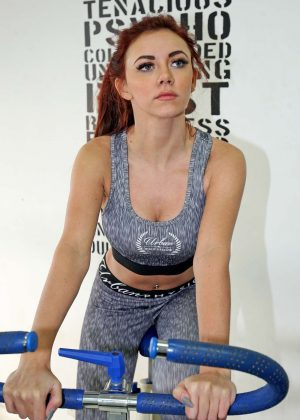 Lydia Lucy workout in Romford
