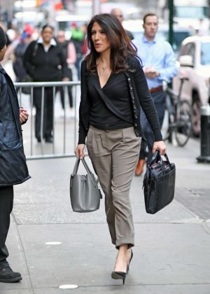 Lynda Lopez Arriving at the ABC Studios in NYC