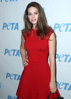 Lyndsy Fonseca - Launch Opening Night of PETA's 'Naked Ambition' Exhibit in LA