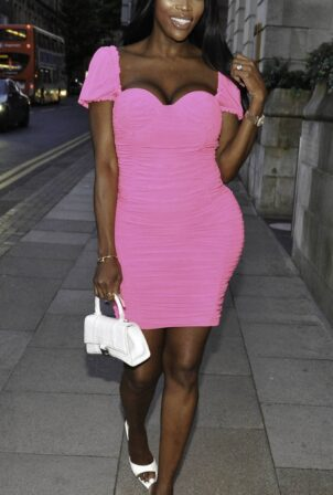 Lystra Adams - arrive at Boujee bar in Manchester City Centre