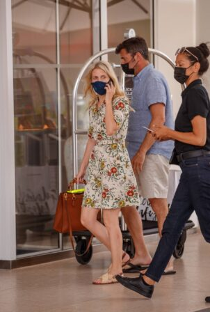Mélanie Laurent - Spotted in a white floral summer dress at the Martinez Hotel
