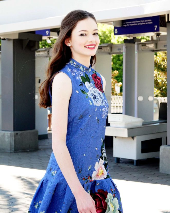 Mackenzie Foy - On EXTRA TV live in Los Angeles
