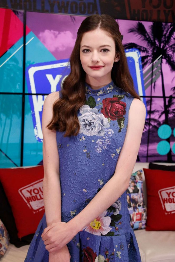 Mackenzie Foy - Visits Young Hollywood Studio in LA