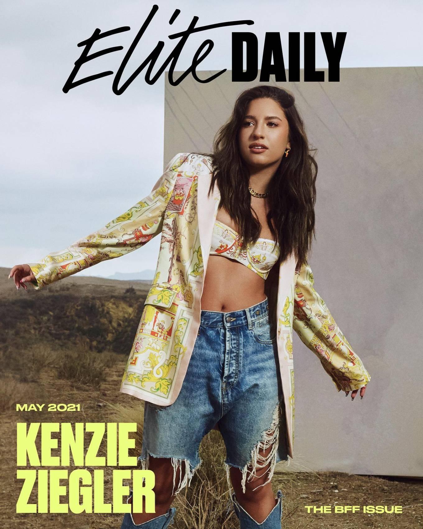 Maddie Ziegler 2021 : Maddie and Kenzie Ziegler – Elite Daily magazine (May 2021)-01
