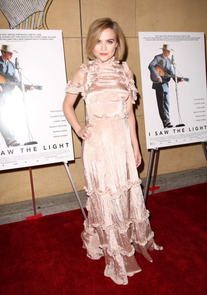 Maddie Hasson - 'I Saw the Light' Premiere in Los Angeles