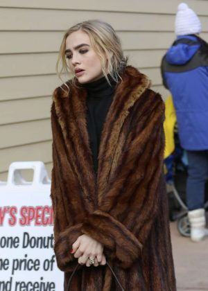 Maddie Hasson out at 2017 Sundance Film Festival in Utah