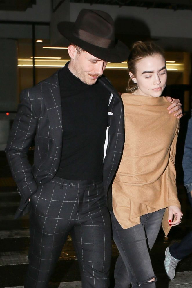 Maddie Hasson with boyfriend at LAX Airport in LA