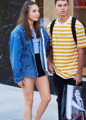 Maddie Ziegler and boyfriend Jack Kelly - Shopping at Balenciaga in Beverly Hills