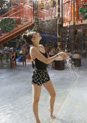 Maddie Ziegler at Kalahari Resorts Poconos