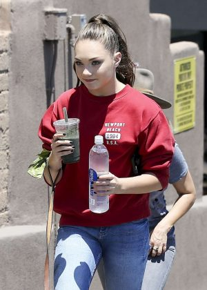 Maddie Ziegler - Leaves a Restaurant in Los Angeles