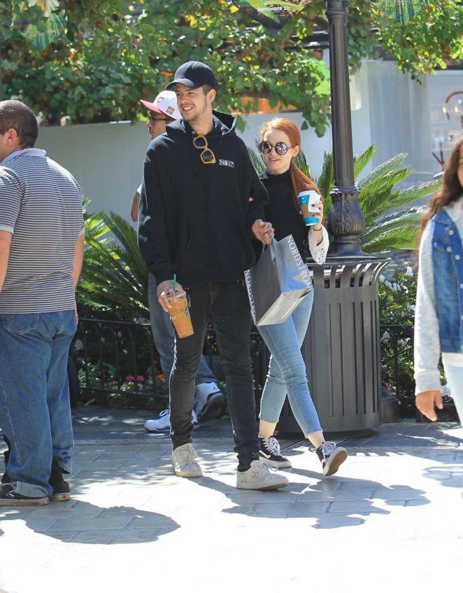 Madelaine Petsch and Travis Mills: Shopping at the Grove in Hollywood-08