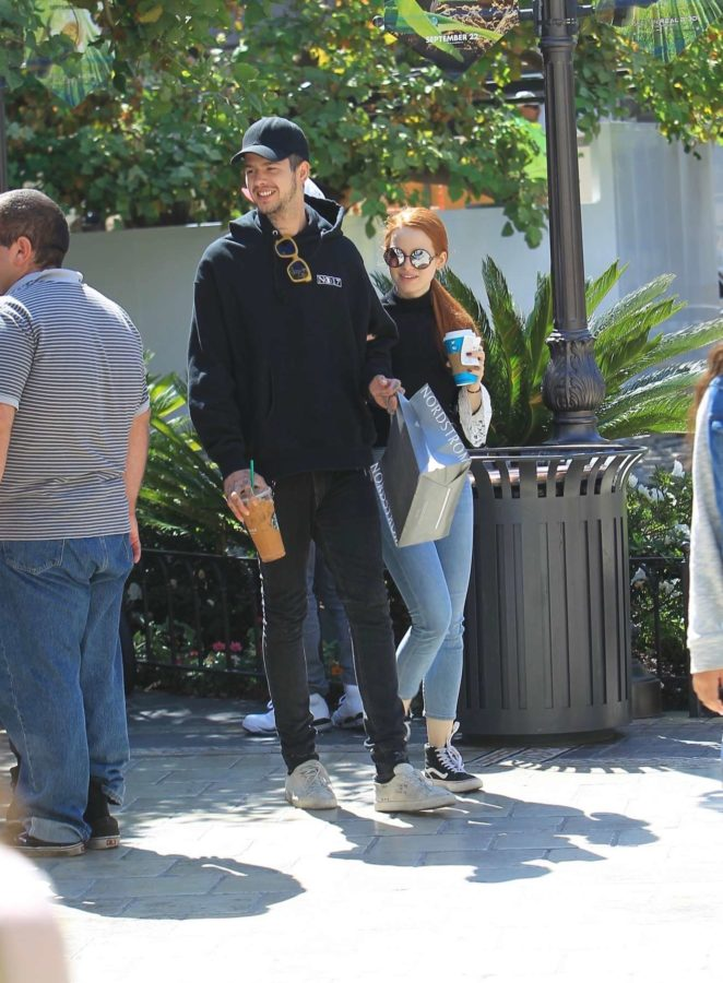 Madelaine Petsch and Travis Mills: Shopping at the Grove in Hollywood-11
