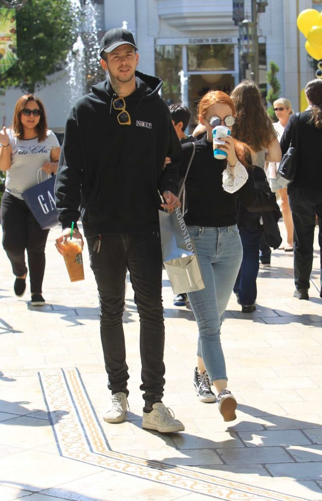 Madelaine Petsch and Travis Mills - Shopping at the Grove in Hollywood