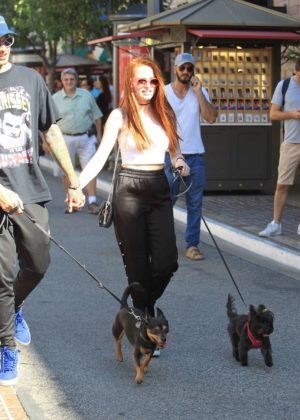 Madelaine Petsch and Travis Mills - Shopping at the Grove in Hollywoodax