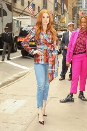 Madelaine Petsch - Arrives at Strahan & Sara Show in NYC