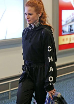 Madelaine Petsch - Arriving at Airport in Vancouver