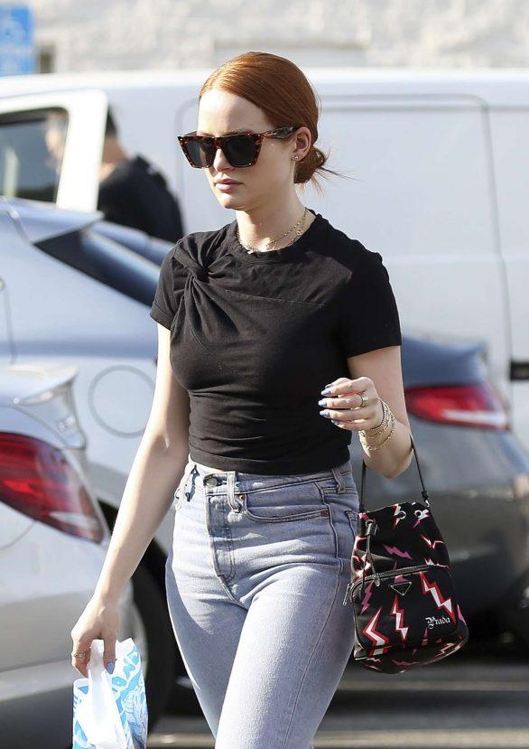 Madelaine Petsch - carries a Prada purse while shopping in LA