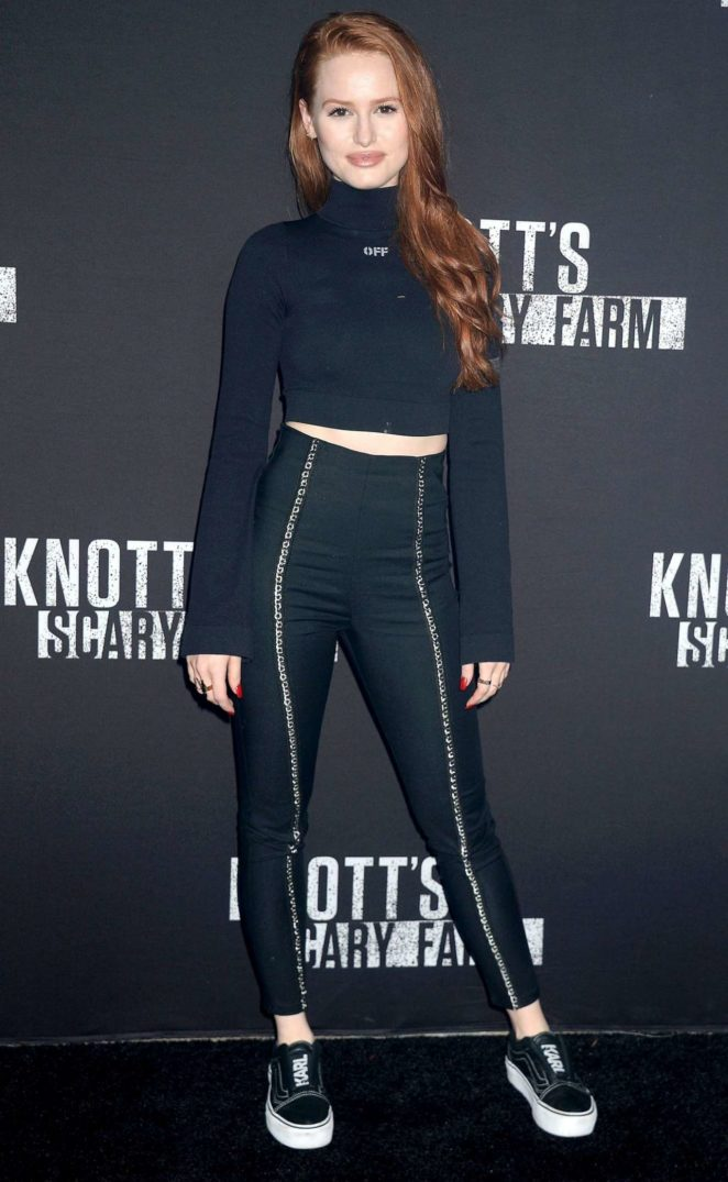 Madelaine Petsch – Knott's Scary Farm Celebrity Night  Photocall in Buena Park
