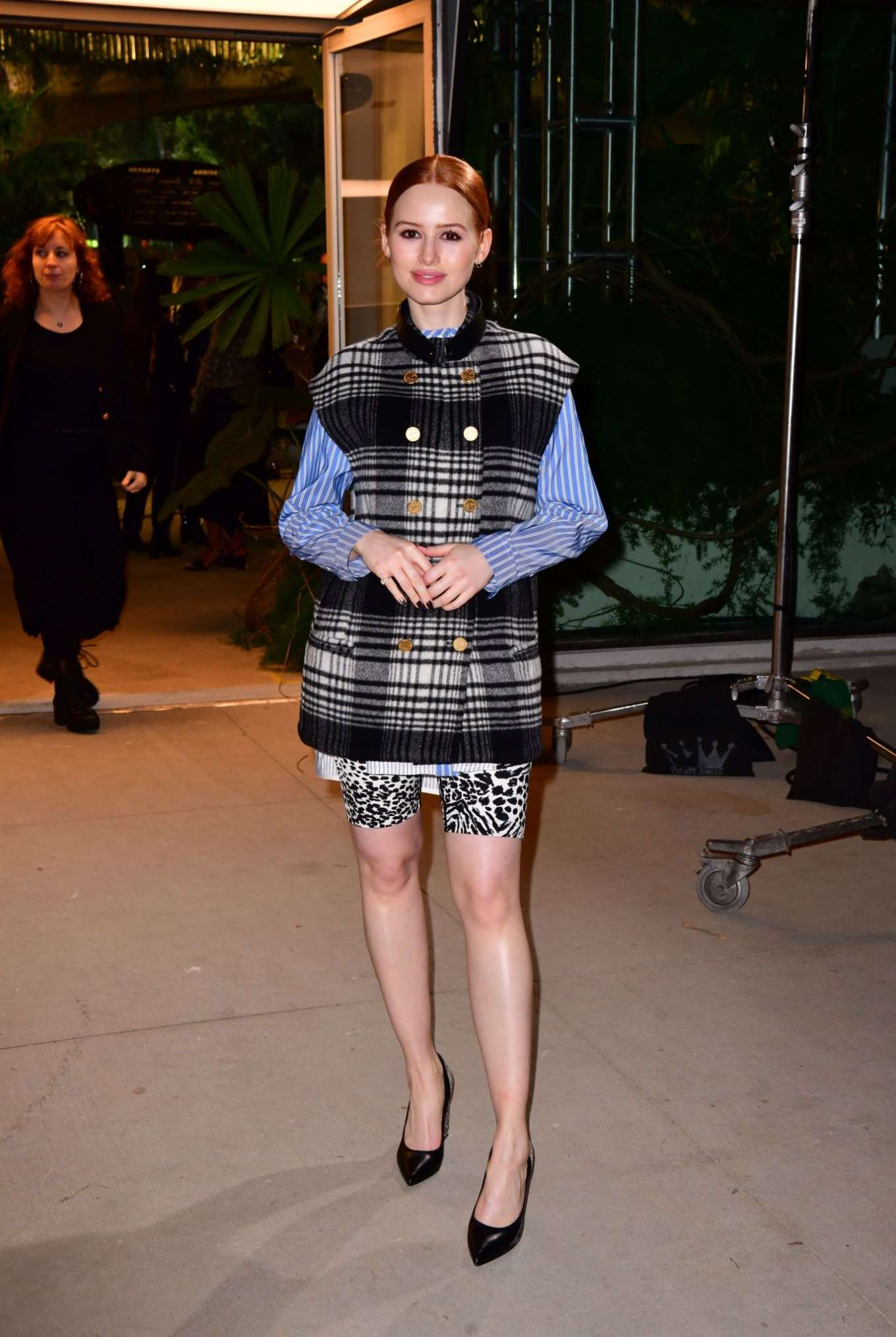 Madelaine Petsch - Leaves the Louis Vuitton Cruise 2020 Fashion Show in NYC