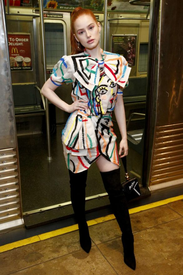 Madelaine Petsch - Moschino Prefall 2020 Runway Show in Brooklyn