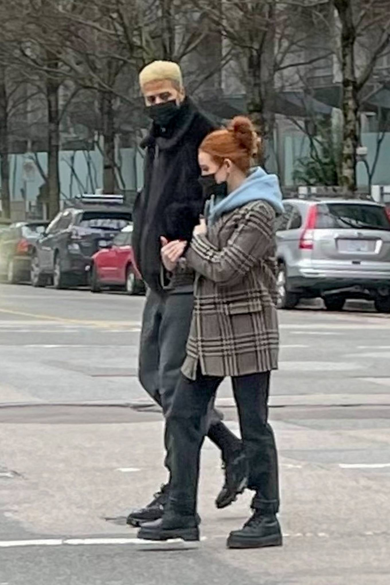 Madelaine Petsch - Out for a walk with boyfriend Miles Chamley-Watson in Vancouver