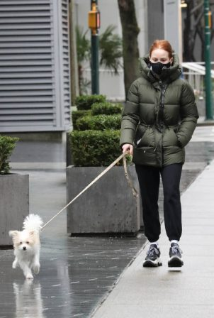 Madelaine Petsch - With her dog Olive in Vancouver