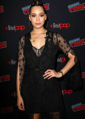 Madeleine Mantock - 'Charmed' Screening at 2018 New York Comic Con
