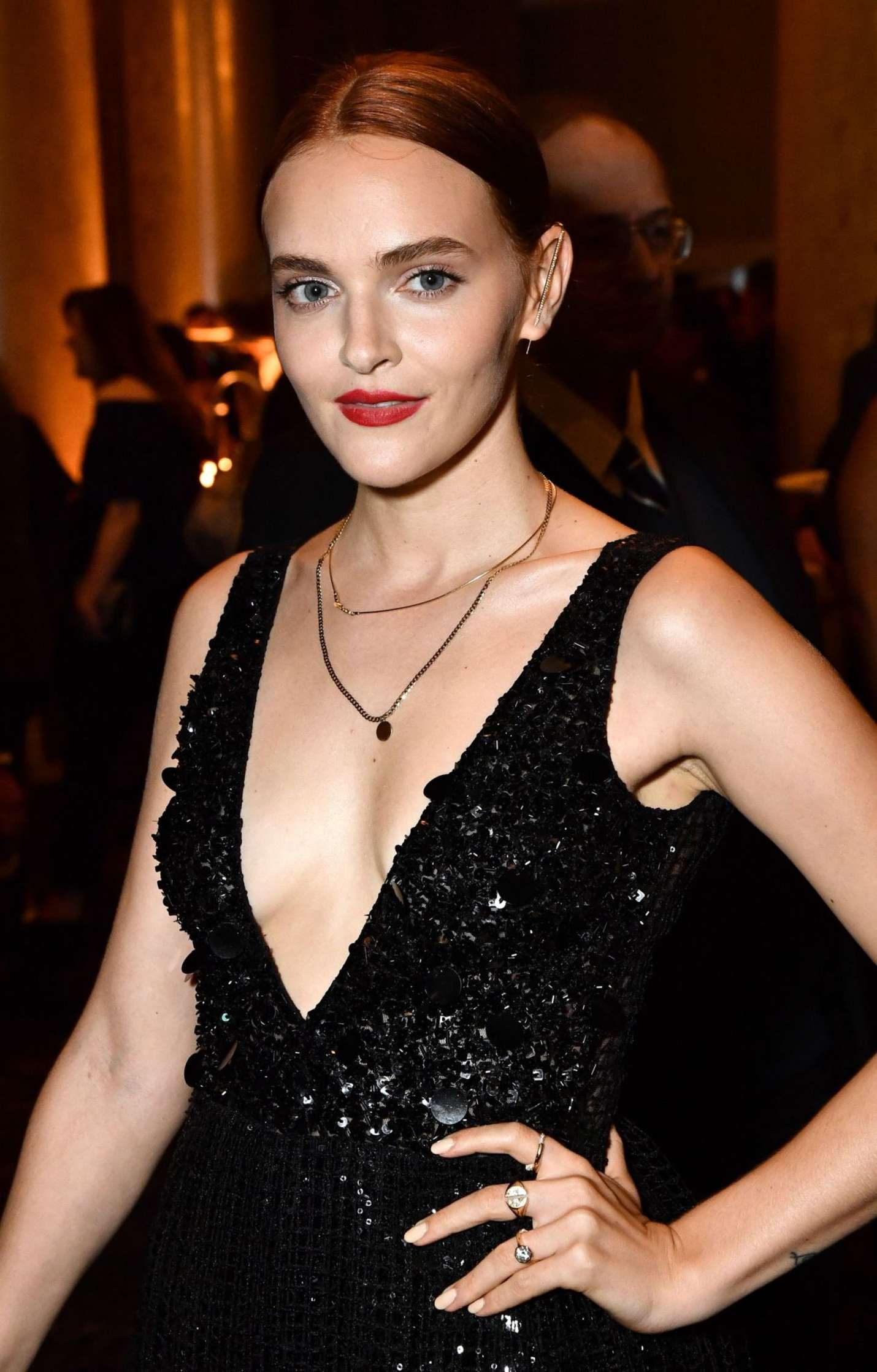 Madeline Brewer goes bold in blue as she joins her ...   Madeline Blue