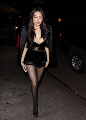Madison Beer - All-Black arrives at her listening party at The Peppermint Club in West Hollywood