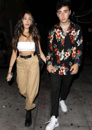 Madison Beer and boyfriend Zac Bia - Leaves Delilah in West Hollywood