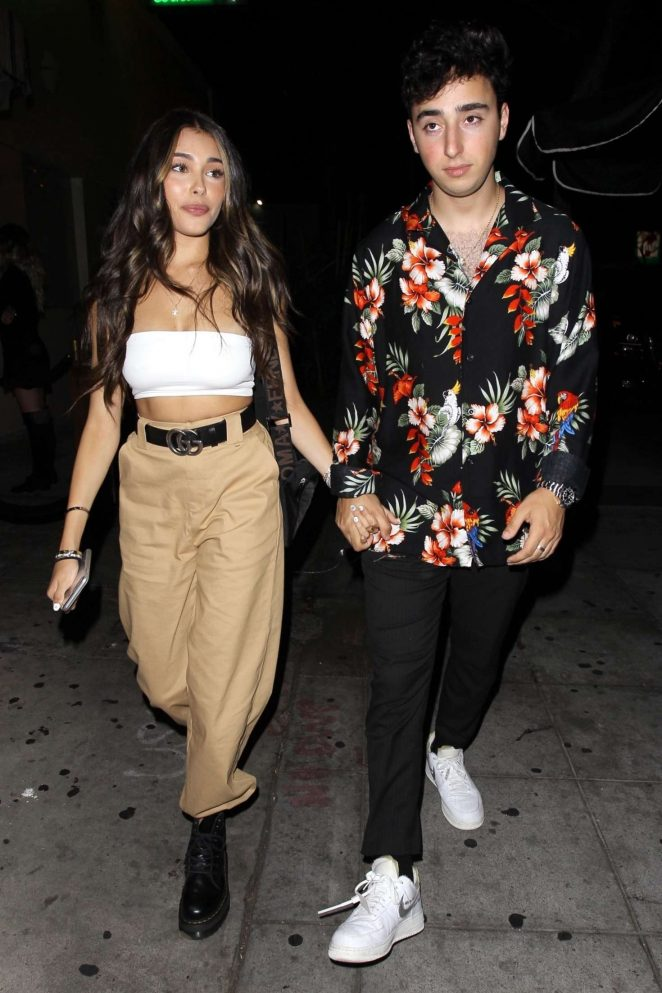 Madison Beer and boyfriend Zac Bia – Leaves Delilah in West Hollywood
