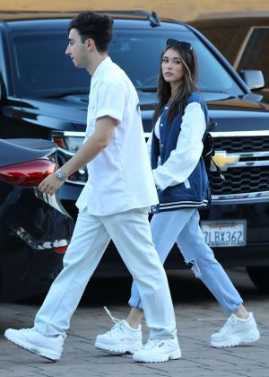 Madison Beer and boyfriend Zack Bia - Arrives at Nobu in Malibu