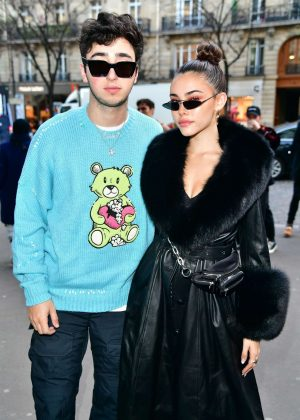 Madison Beer and Zack Bia – Leaves the Amiri Fashion Show in Paris
