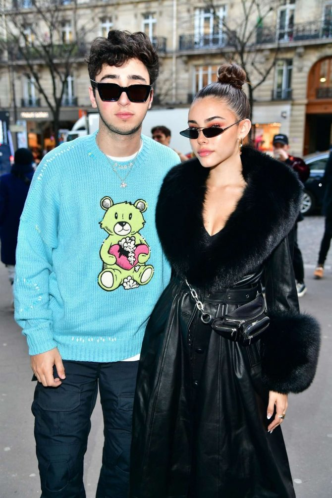 Madison Beer and Zack Bia - Leaves the Amiri Fashion Show in Paris
