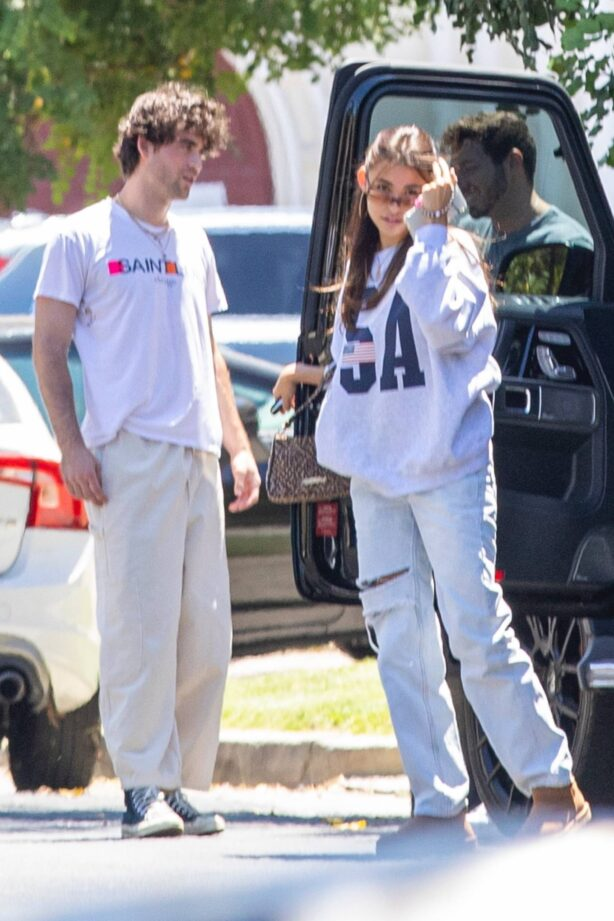 Madison Beer - arrives at a friends home in Los Angeles