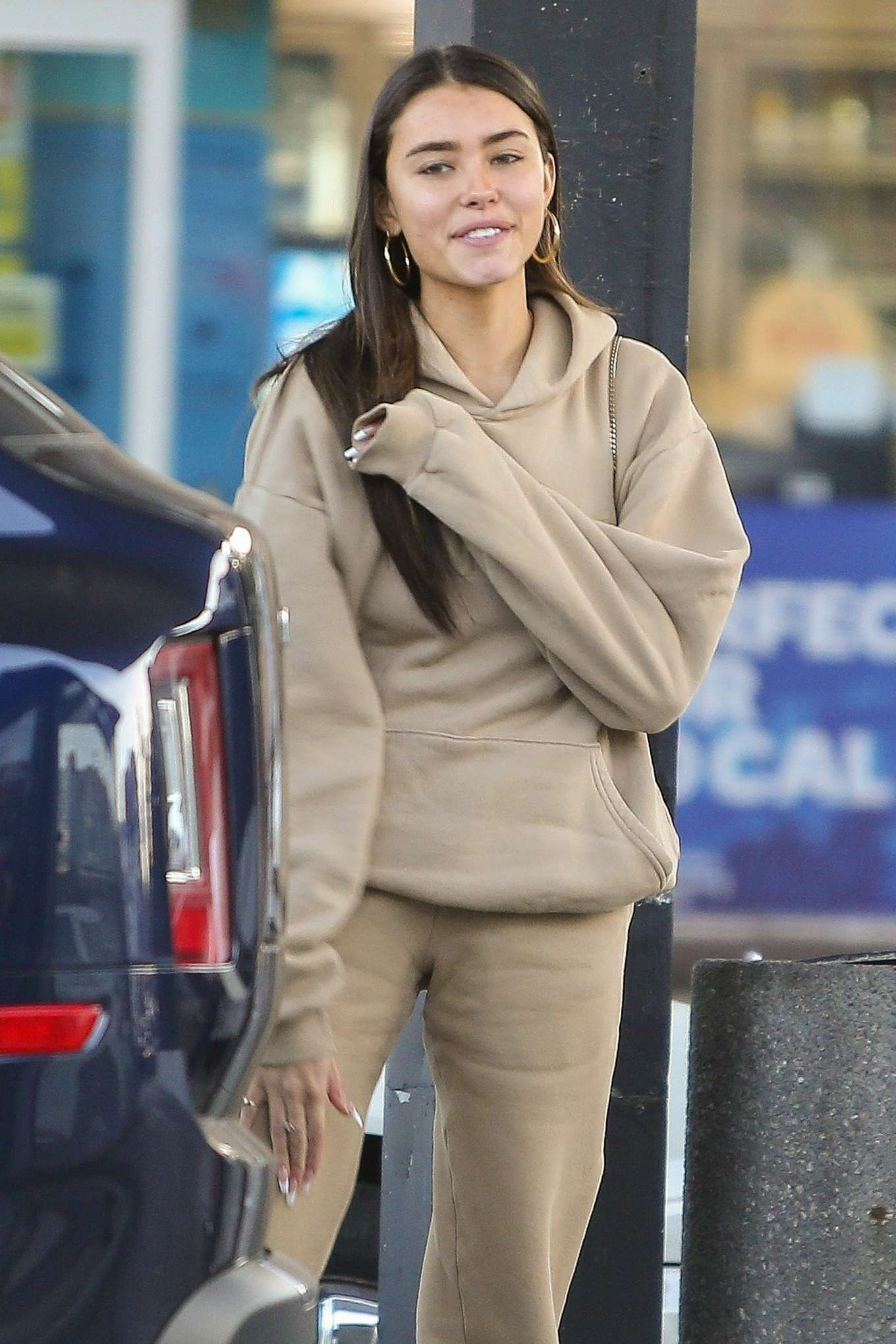 Madison Beer at a gas station in Los Angeles