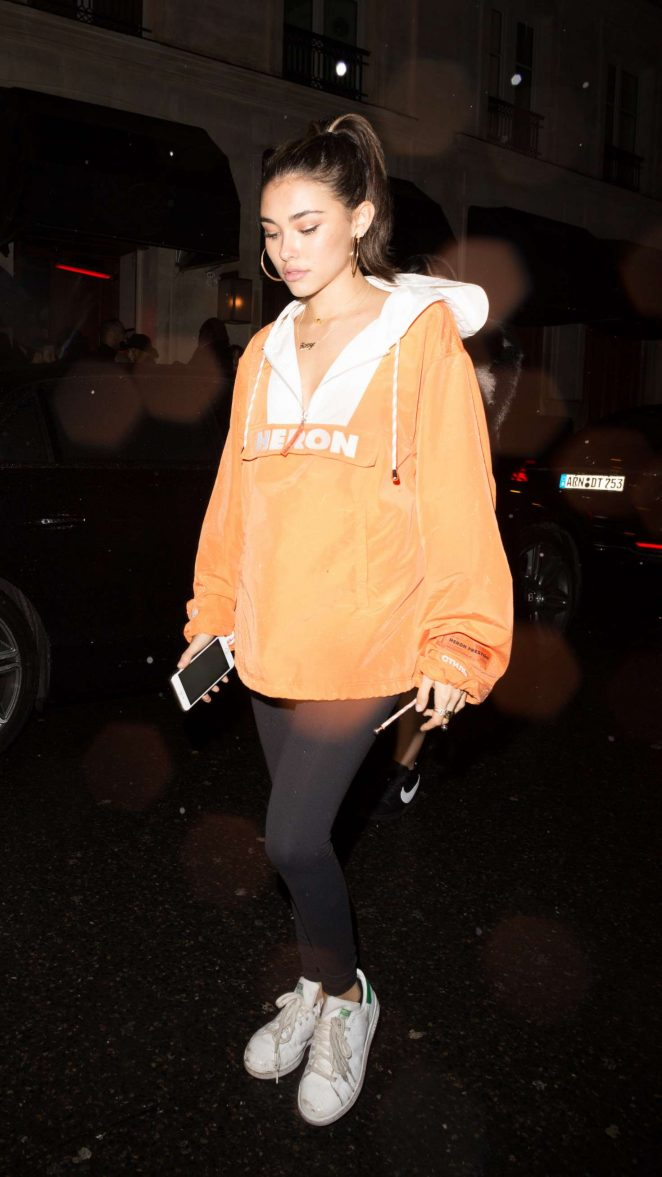 Madison Beer at a night club in Paris -04
