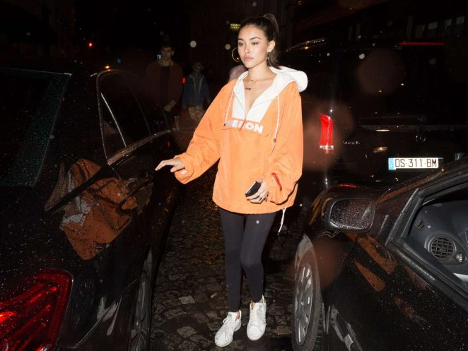 Madison Beer at a night club in Paris -05