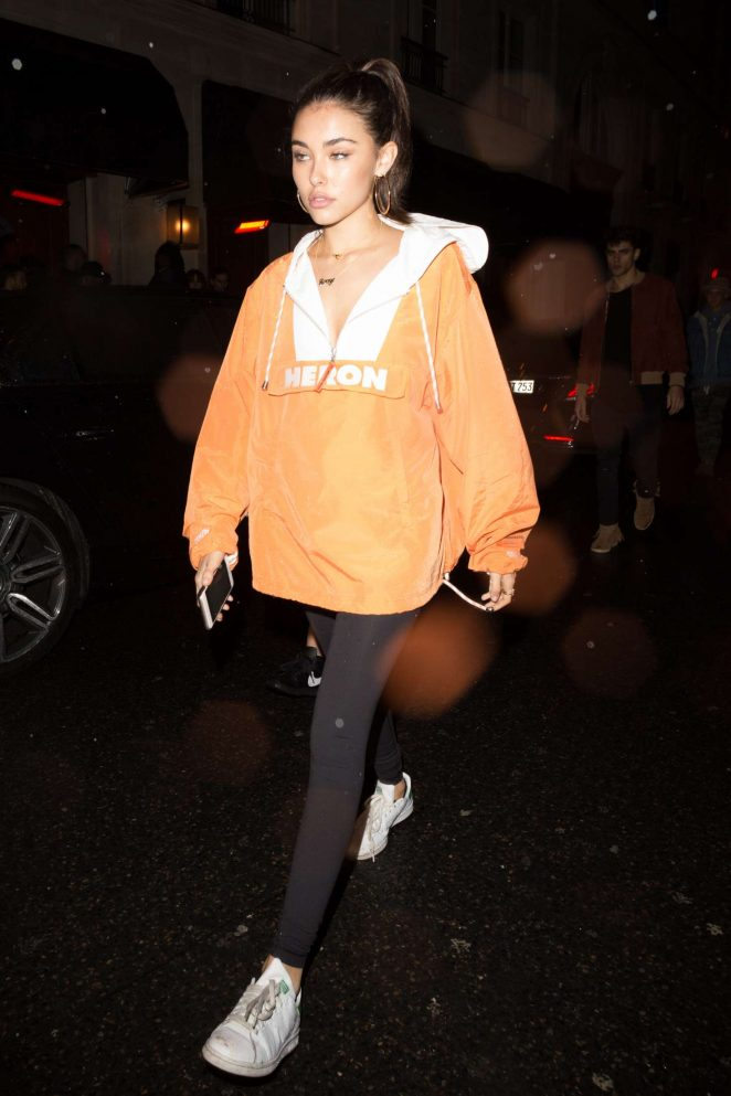 Madison Beer at a night club in Paris -09