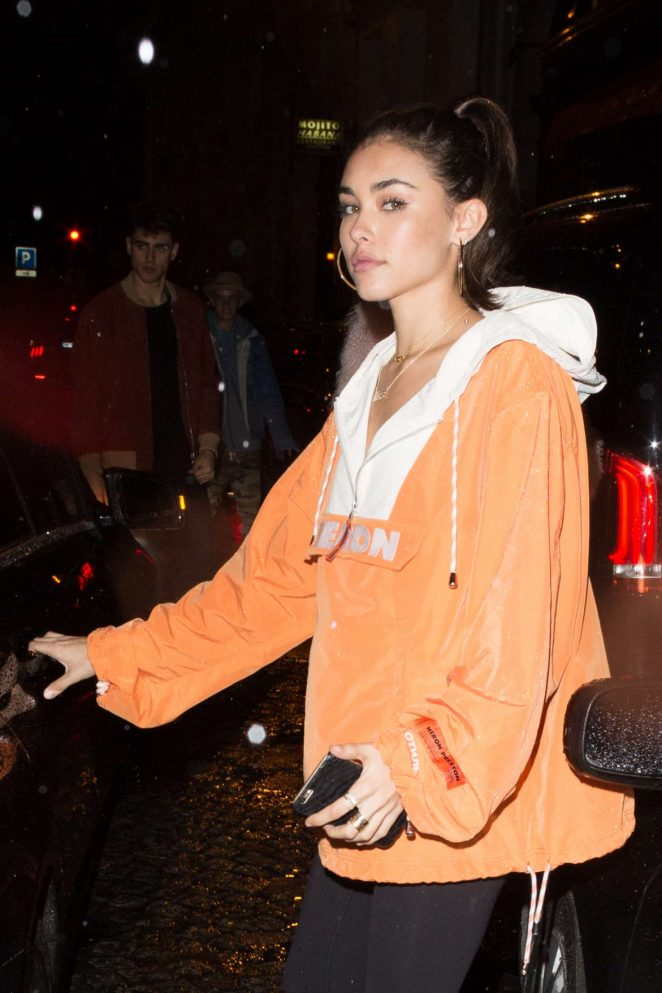 Madison Beer at a night club in Paris -14