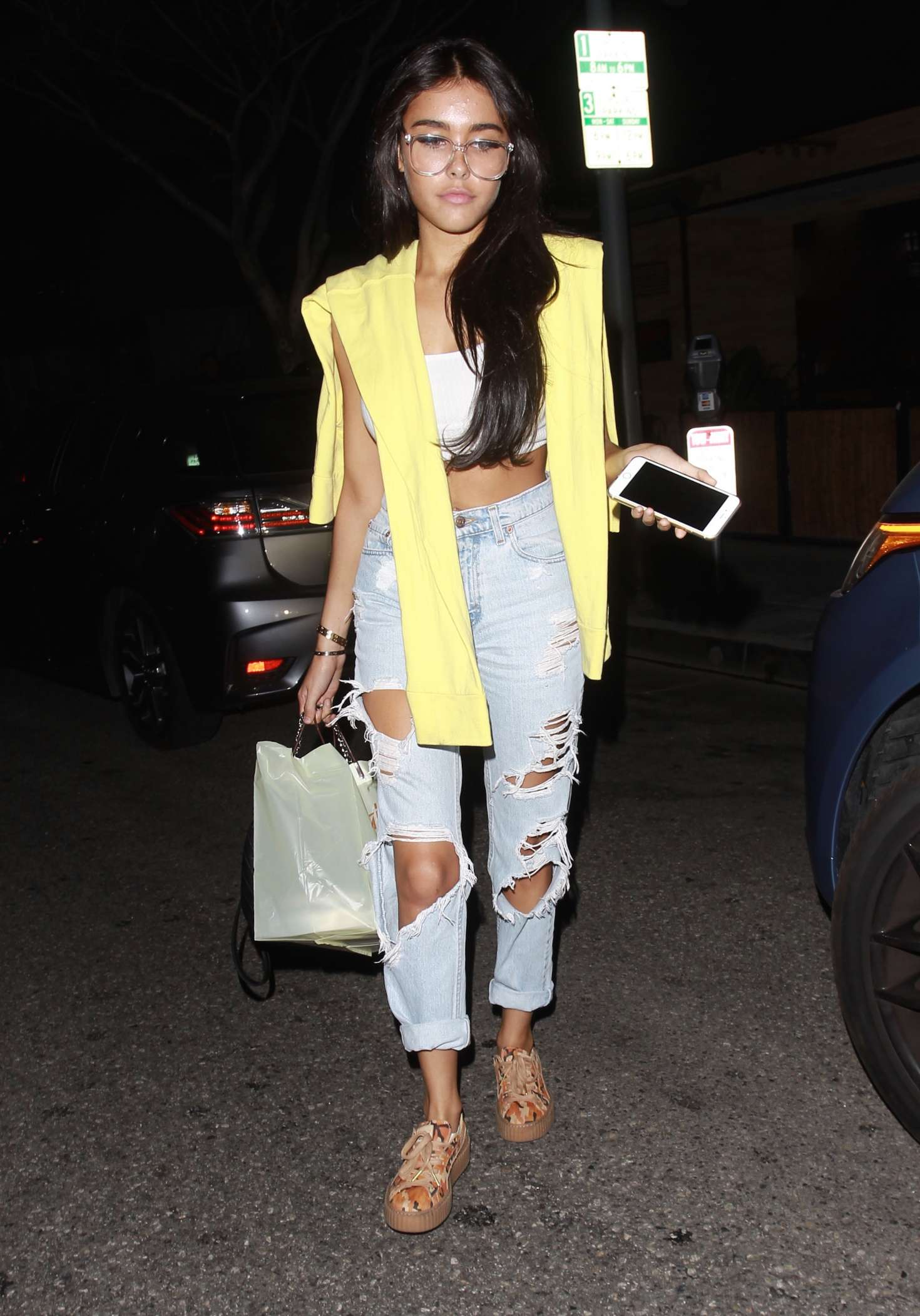 Madison Beer at 'Il Pastaio' Restaurant in Beverly Hills