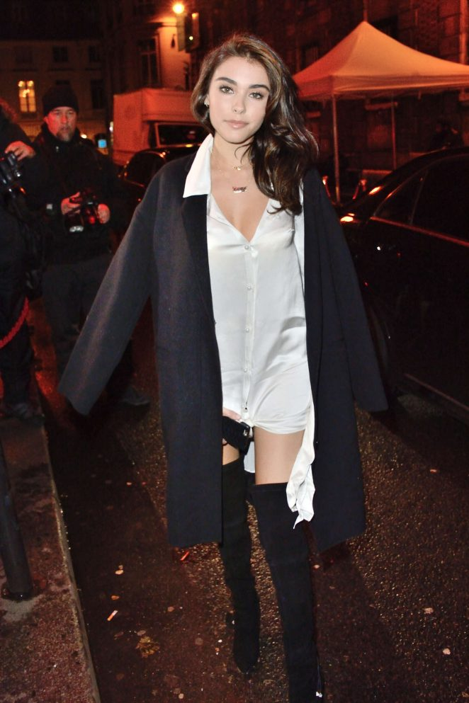 Madison Beer at L'Oreal Paris Dinner Hosted By Julianne Moore in Paris