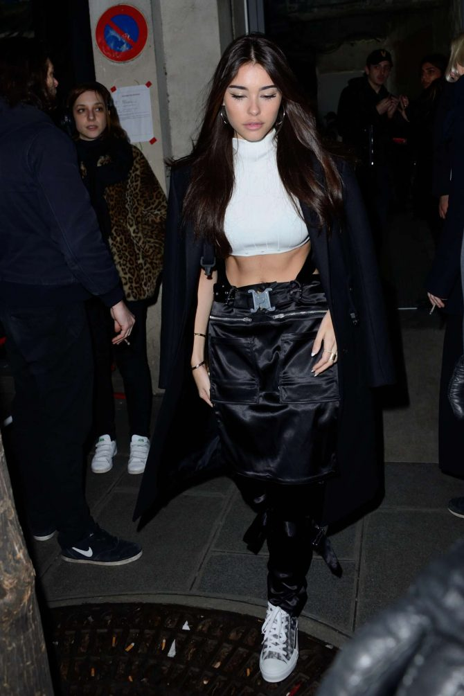Madison Beer – Attending the 1017 ALYX 9SM Menswear Show in Paris