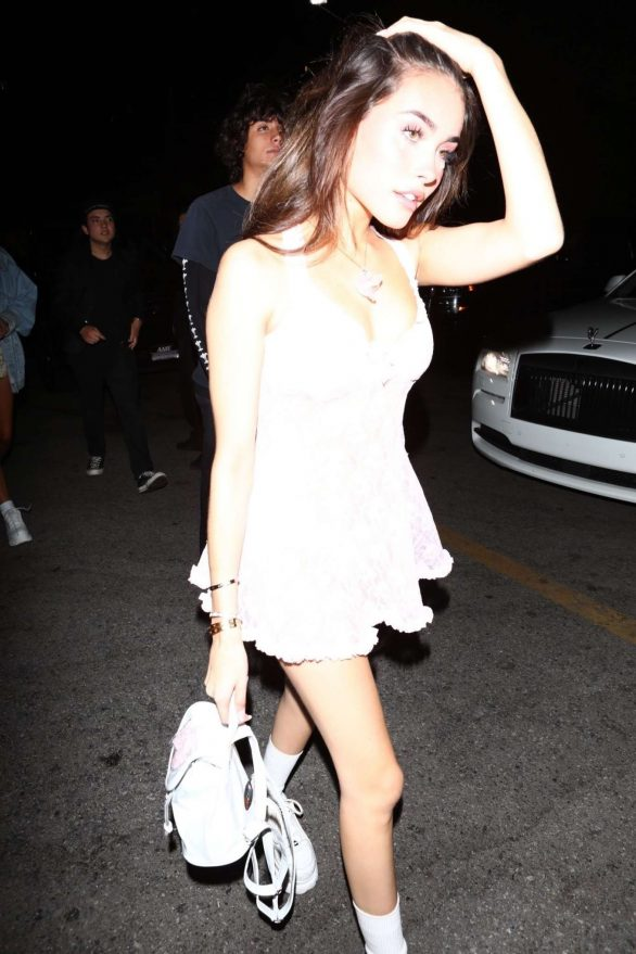 Madison Beer - Attends Demi Lovato's Halloween Party at Hyde in Hollywood